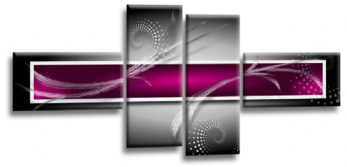 Abstract Canvas Wall Art Print Purple Grey White Picture